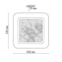 2080/EL SN 013 св-к PINO пластик LED 72Вт 3000-6500К 530*530 IP43 пульт ДУ