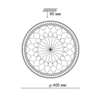 2082/DL SN 023 св-к DEGIRA пластик LED 48Вт 3000-6500К D400 IP43 пульт ДУ