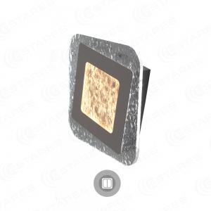 Управляемый светодиодный светильник, бра GEOMETRIA ICE 20W S-220-DOUBLE-ON/OFF-WHITE/CLEAR-220-IP40