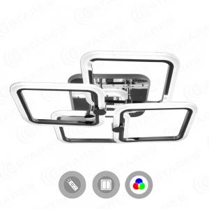 Управляемая светодиодная люстра LIKE RGB 100W 4Q-560/120-RC-CHROME/OPAL-220-IP20