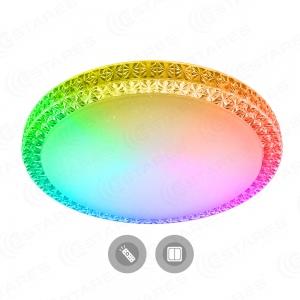 Управляемый светодиодный светильник PLUTON RGB 70W R-595-CLEAR/SHINY-220-IP40/2020