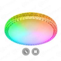 Управляемый светодиодный светильник PLUTON RGB 60W R-520-CLEAR/SHINY-220-IP40/2019