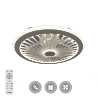 Управляемая светодиодная люстра с вентилятором FAN TRUCK 94W+31W-470x170-white/white-220-IP20