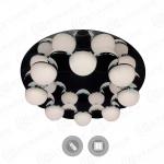 Управляемый светодиодный светильник MOLECULA 120W R-550-CHROME/WHITE-220-IP40